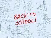 Zpátky do školy vlastnoruční pozadí — Stock fotografie