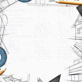 Architect constructor designer background — Stock Photo