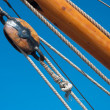 Pulley on fishing boat — Stock Photo