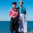 Children in traditional costumes — Foto de Stock