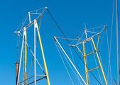 Mast of fishing boat — Stock Photo