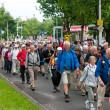 Lots of at the second day of the International Four Days Marches Nijmegen — Stock Photo