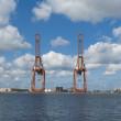 Harbor cranes — Stock Photo #11855153