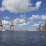 Harbor cranes — Stock Photo #11855288