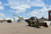 Metal recycling factory — Stock Photo