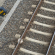 Railway with sensor — Stock Photo