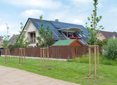 House with solar panels — Stock Photo