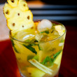 Royalty-Free Stock Photo: Pineapple mojito close up