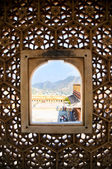 Window with a view in Jaipur — Stock Photo