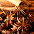 Extreme close up of star anise and cinnamon sticks — Stock Photo #11848931