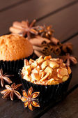 Cashew nut muffin and spices — Стоковое фото