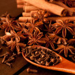 Spices on a table — Stock Photo