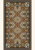Oriental design in the frame for carpet — Stock Vector