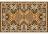 Oriental rug in warm orange brown nuances — Stock Vector