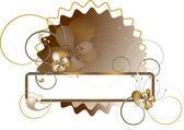 Eleganten Rahmen mit Blumen und Perlen verziert — Stockvektor