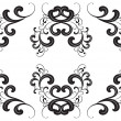 Vector black silhouette of an ornament in Baroque style. — Stockvectorbeeld