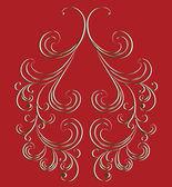 Vector ornament in Baroque style. — Stock Vector