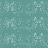 Seamless pattern in Baroque style on green. — Stock Vector