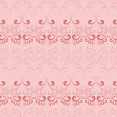 Vector seamless pattern on pink. — Stock Vector