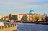 Panorama of Neva Embankment of St. Petersburg. — Stock Photo
