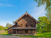 Traditional Russian wooden rural house. — Stock Photo