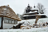 Histórica iglesia de madera — Foto de Stock