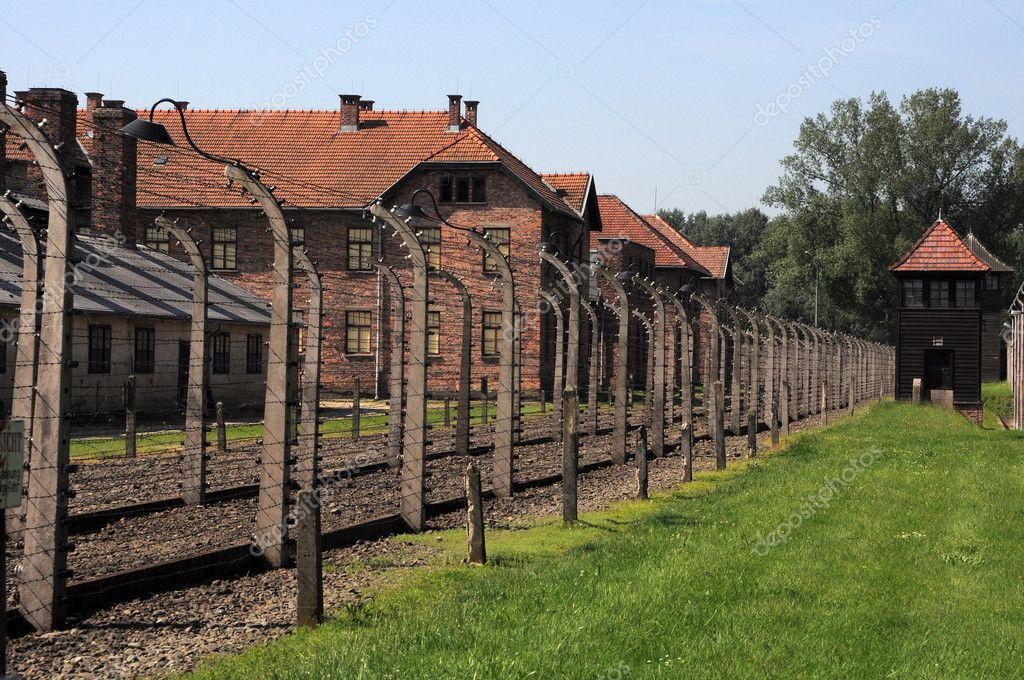 Wired fences of concentration camp Auschwitz in Oswiecim, Poland  Stock Photo #11856428