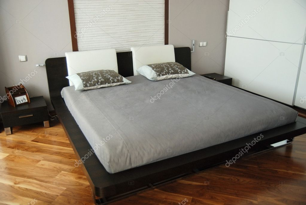 Magnificent double bed. — Stock Photo #10769828