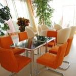 Rendering Interior fashionable living-room — Stock Photo