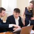 Business meeting of young — Stock Photo