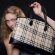 Beautiful blonde lifted bag — Stock fotografie #11796474