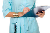 Doctor with clipboard — Stockfoto