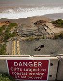 Coastal erosion — Stock Photo
