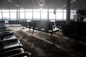 Flygplats terminal sittplatser — Stockfoto