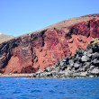 Stock Photo: Red beach in Santorini island, Greece
