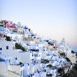 View of Thira over sunset , Santorini — Stock Photo