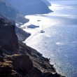 Foto Stock: Santorini. View of calderwith boats and yachts