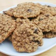 Oatmeal Raisin Cookies - Stock Photo