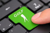 Golf button — Stock Photo