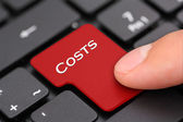 Costs button — Stock Photo