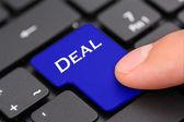 Tlačítko Deal — Stock fotografie