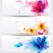 Flower vector background brochure template. — Stock Vector #11161617