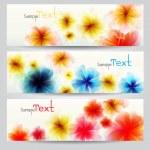 Flower vector background brochure template. — Stock Vector #11162465