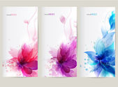 Vector background with Flower — Vecteur