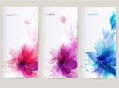 矢量背景与花 — 图库矢量图片
