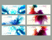 Floral vector background brochure template. — Stock Vector
