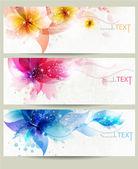 Flower vector background brochure template. — Stock Vector