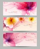 çiçek vektör arka plan broşür şablonu. — Stok Vektör
