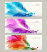 Abstract headers with floral elements . Vector design — Stock Vector