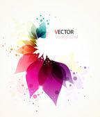 Fond abstrait floral coloré — Vecteur